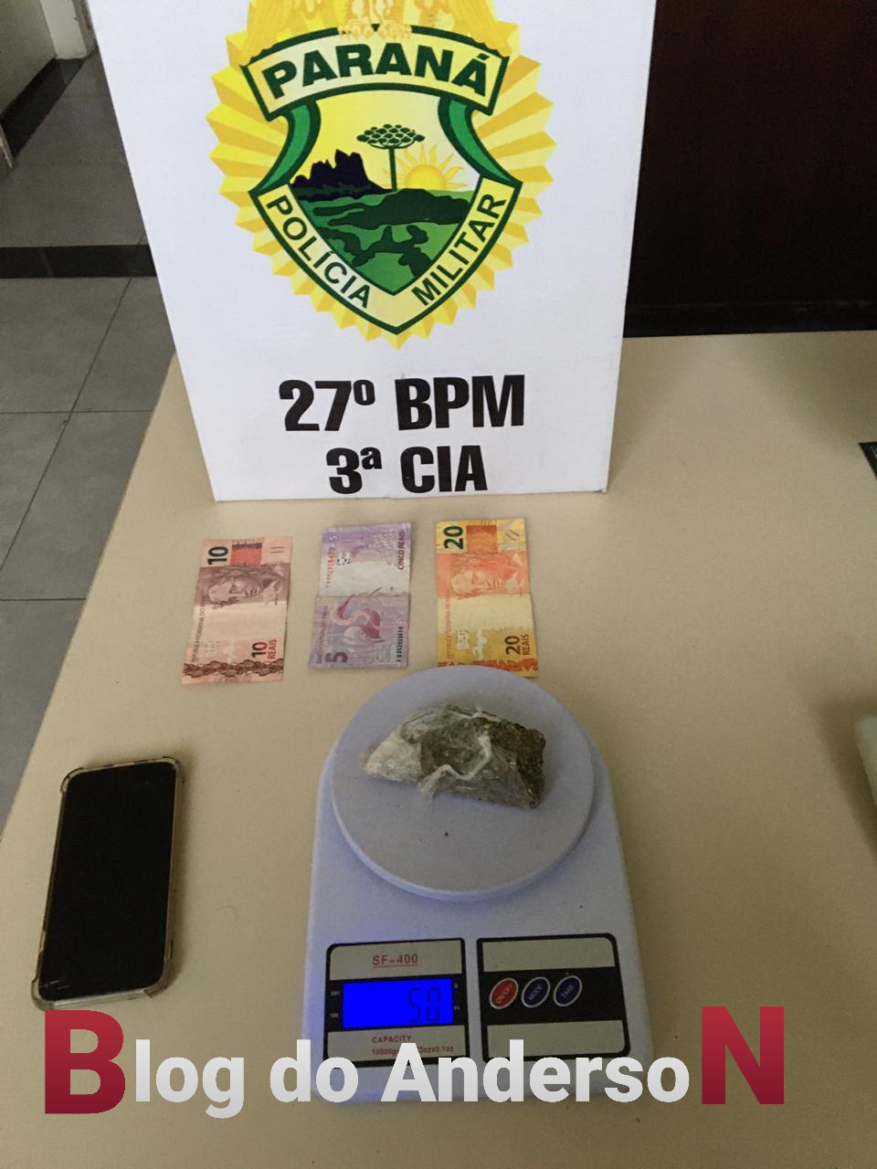 Equipe REFORÇO da PM prende morador de São João do Triunfo buscando drogas em São Mateus do Sul