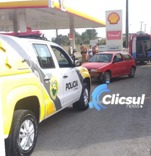 Motociclista fica ferido em colisão com automóvel em São Mateus do Sul