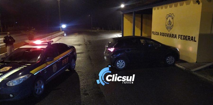 Após perseguição na BR 280 PRF prende três em Canoinhas