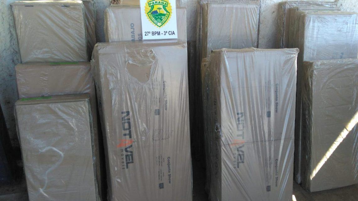RPA aborda veículo suspeito e localiza produtos furtados em carga tombada