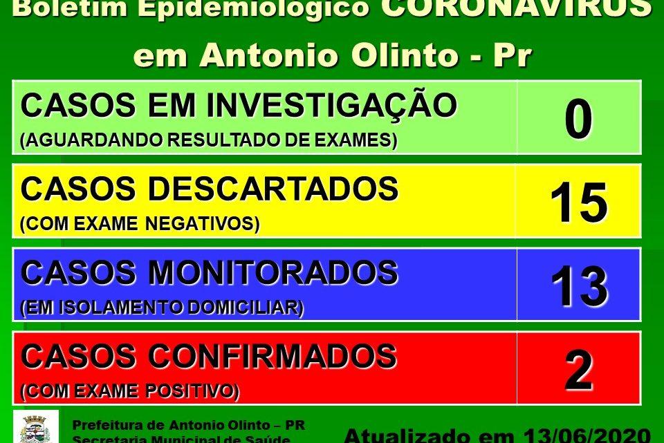 Antônio Olinto confirma mais um caso da Covid-19