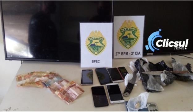Polícia Militar apreende menor com drogas e vários produtos de origem duvidosa em São Mateus do Sul