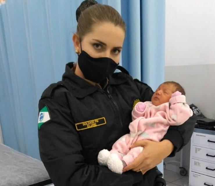 Polícia Militar de São Mateus do Sul salva mais uma recém nascida engasgada
