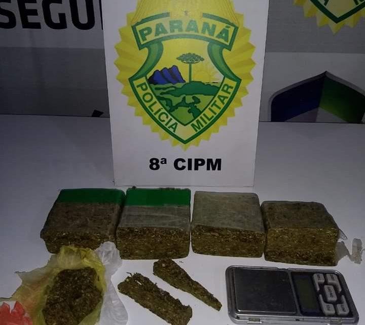 DROGAS E UMA BALANÇA DE PRECISÃO FORAM APREENDIDOS PELA POLÍCIA MILITAR EM IRATI