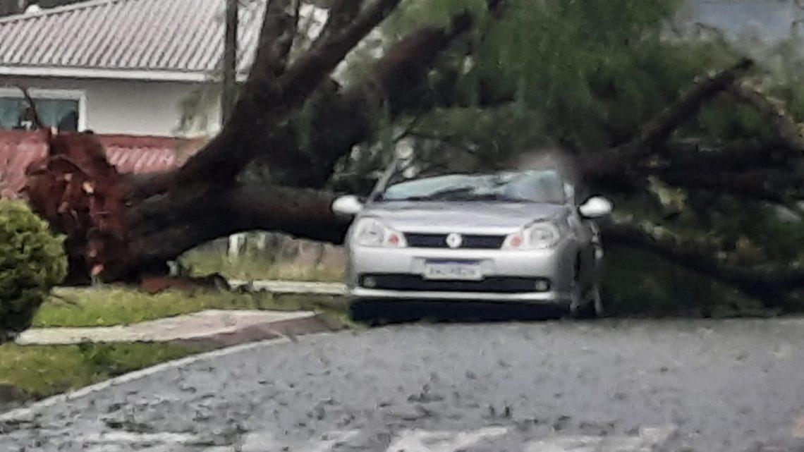 Temporal causa estragos em São Mateus do Sul