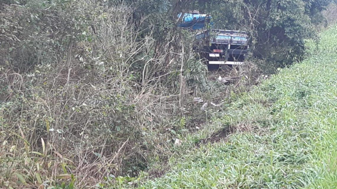 PRF atende acidente na BR 476 em São Mateus do Sul durante a madrugada
