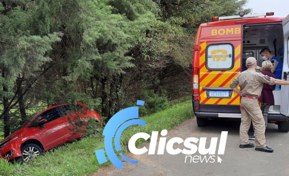 Bombeiros atendem acidente na BR 476 em São Mateus do Sul