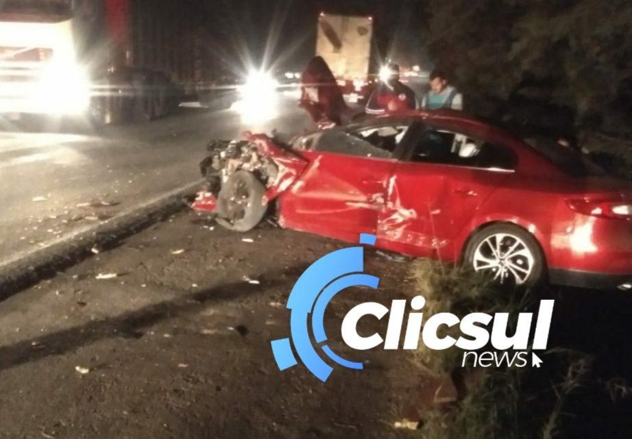 Acidente grave na  BR 476 em São Mateus do Sul