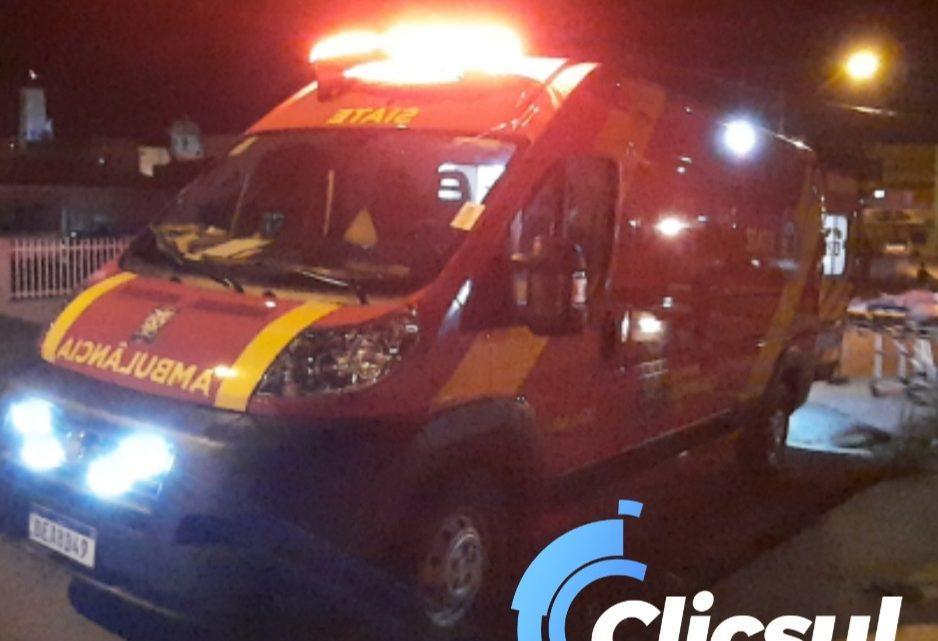 Bombeiros socorrem homem caido na vila Prohmann