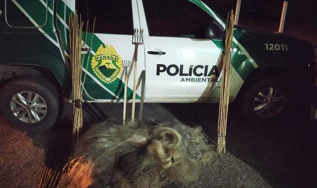Policia Ambiental apreende 780 metros de redes em São João do Triunfo
