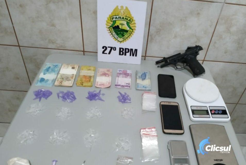 ROTAM realiza prisões e apreensões em local indicado por tráfico de drogas em Antônio Olinto