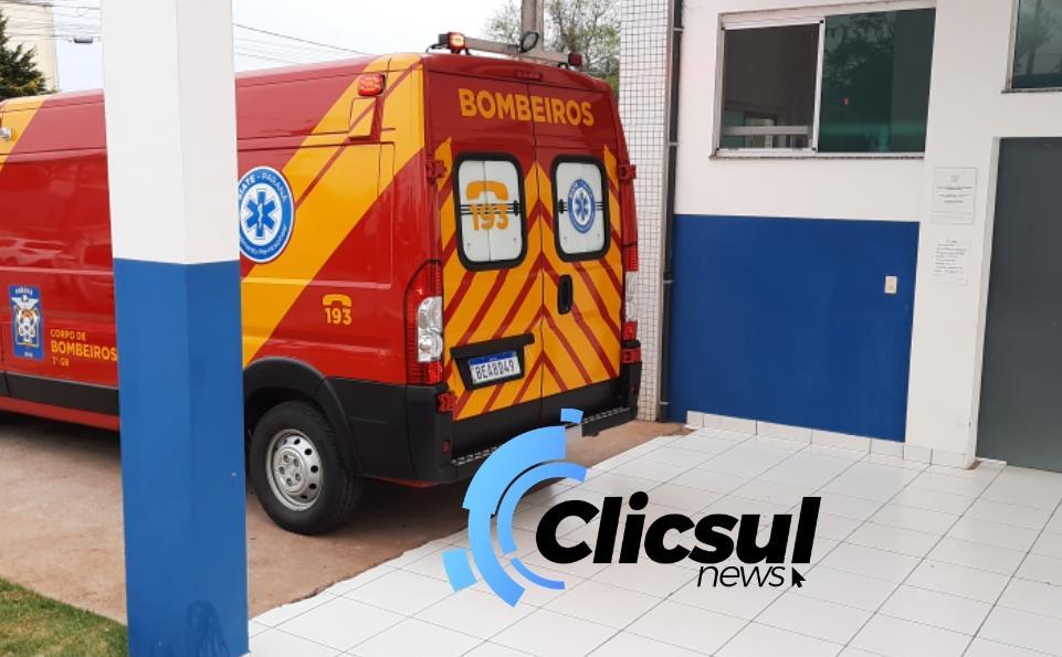 Bombeiros e PRE atendem vitima de atropelamento na PR 151 em São Mateus do Sul