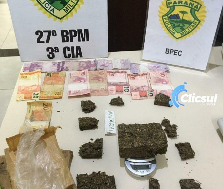 BPEC E RPA apreendem drogas oriundas de tráfico em São Mateus do Sul
