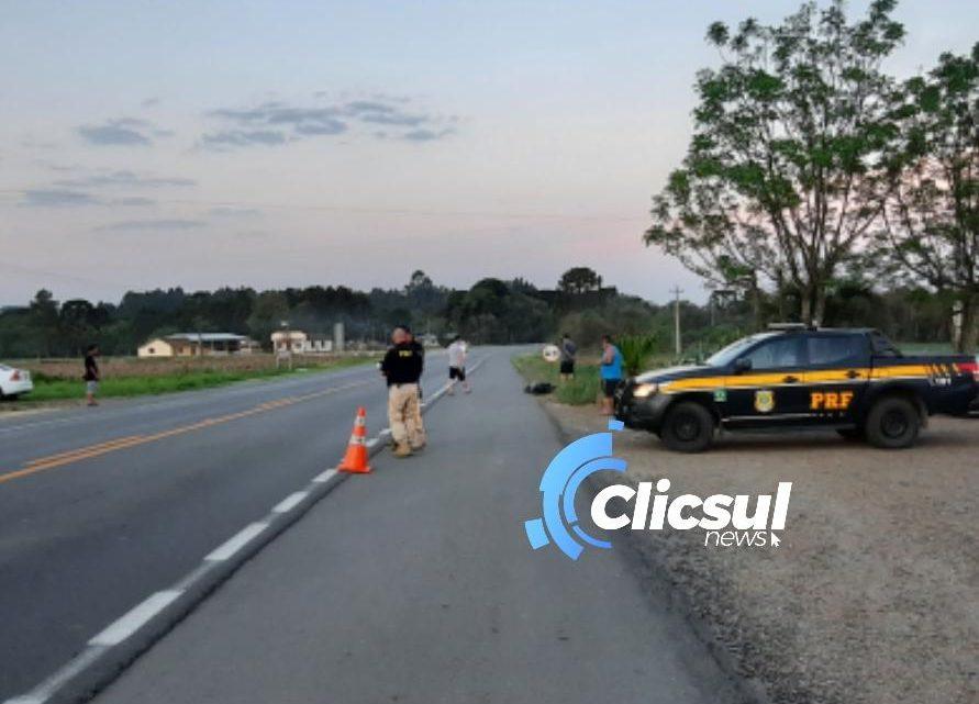 Jovem morre vítima de atropelamento na BR 476 em São Mateus do Sul