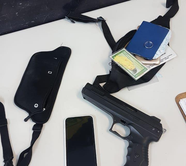 Policial de folga natural de São Mateus flagra assalto em Curitiba  prende autor e recupera  pertences e moto furtada