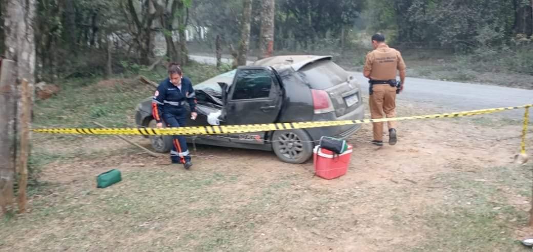 Motorista morre em acidente na estrada de chão da Vila Palmira em São João do Triunfo