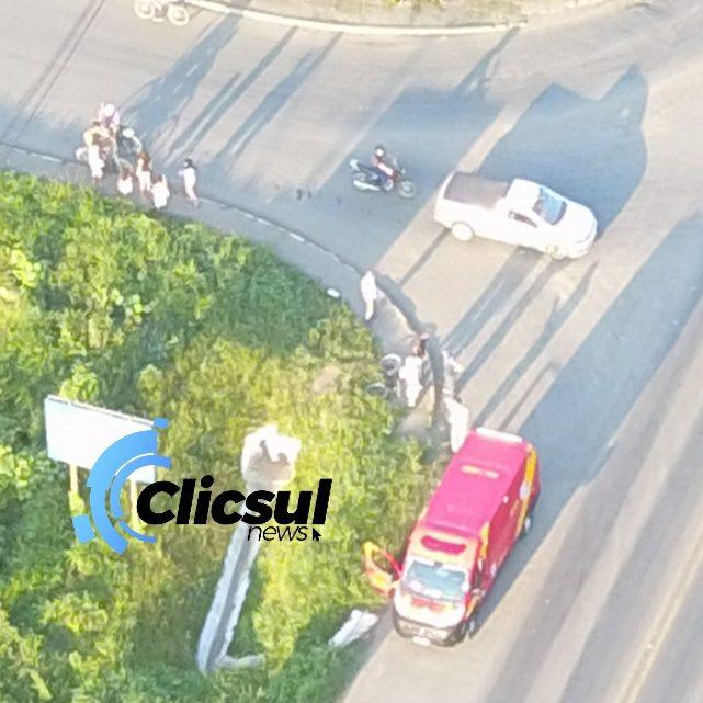 Veiculo bate em ciclista em São Mateus do Sul
