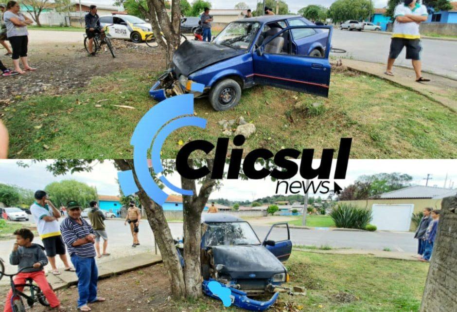 PM e Bombeiros atendem acidente na Vila Prohmann