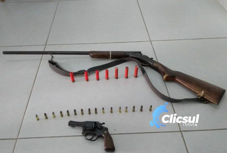 Polícia Civil e Polícia Militar de São João do Triunfo realizam ação conjunta e apreendem armas de fogo