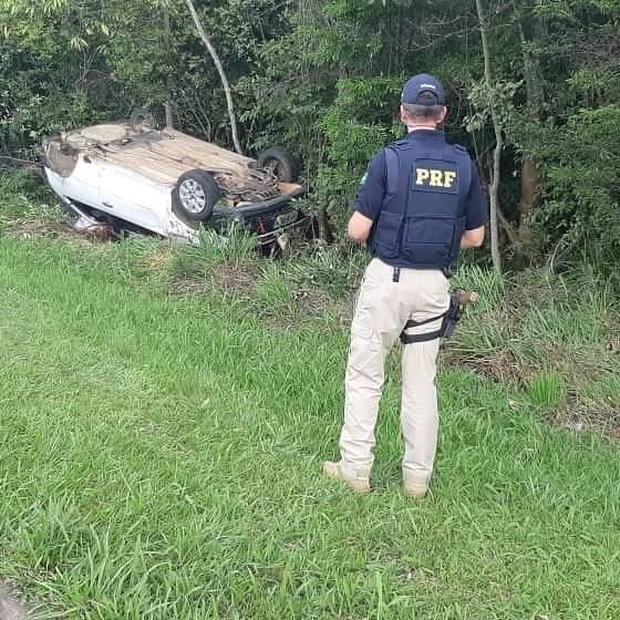 PRF atende grave acidente em Palmeira