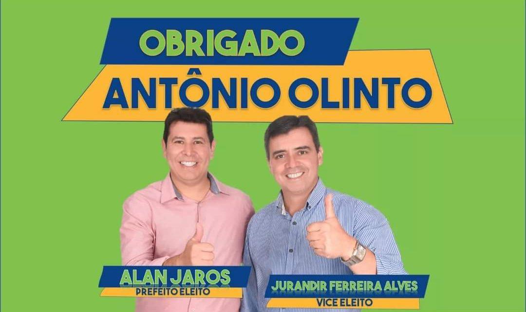 Alan Jaros e Jurandir Alves eleitos em Antônio Olinto