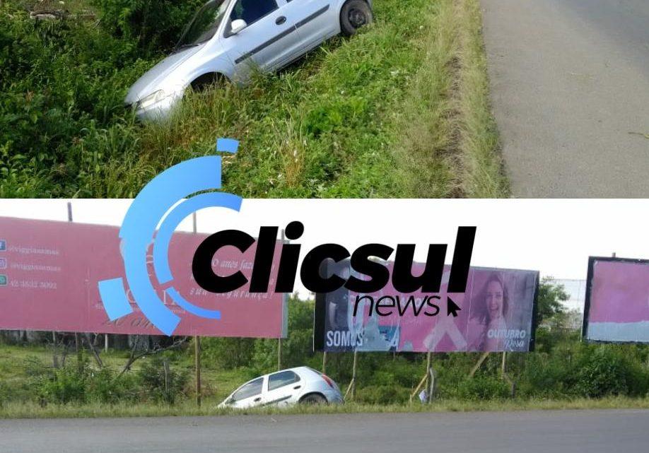 Bombeiros e PM atendem acidente de trânsito próximo ao trevo da Petrobras em São Mateus