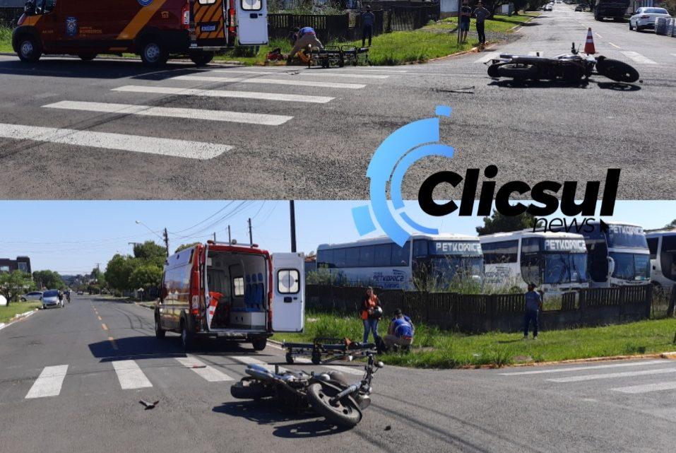 Bombeiros e PM atendem colisão envolvendo motocicletas em São Mateus do Sul
