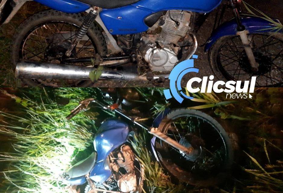 Motociclista fica ferido durante queda na Rodovia do Xisto br-476