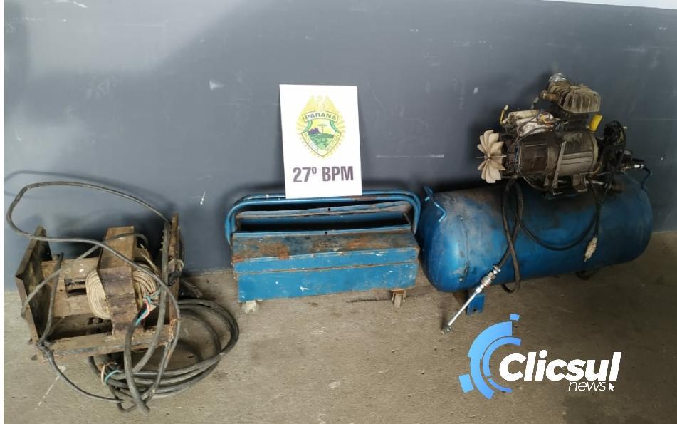 ROTAM prende autor de furto de compressor e ferramentas em São Mateus do Sul