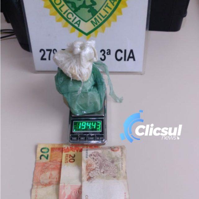Policia Militar de São Mateus apreende significativa quantia de drogas que seria entregue em Três Barras