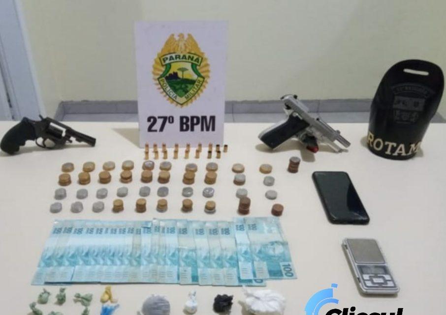 ROTAM prende rapaz em posse de drogas e armas de fogo em São Mateus do Sul