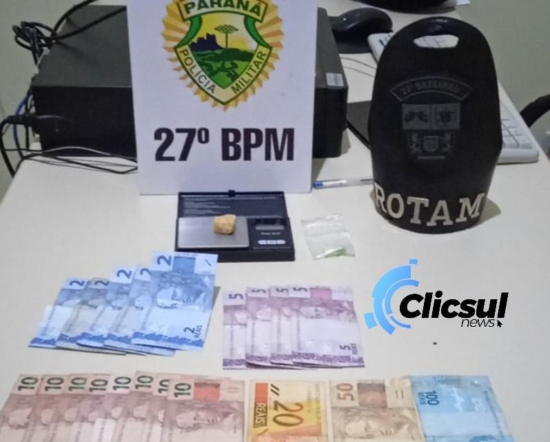 ROTAM encaminha dois menores por tráfico de drogas na vila Bom Jesus