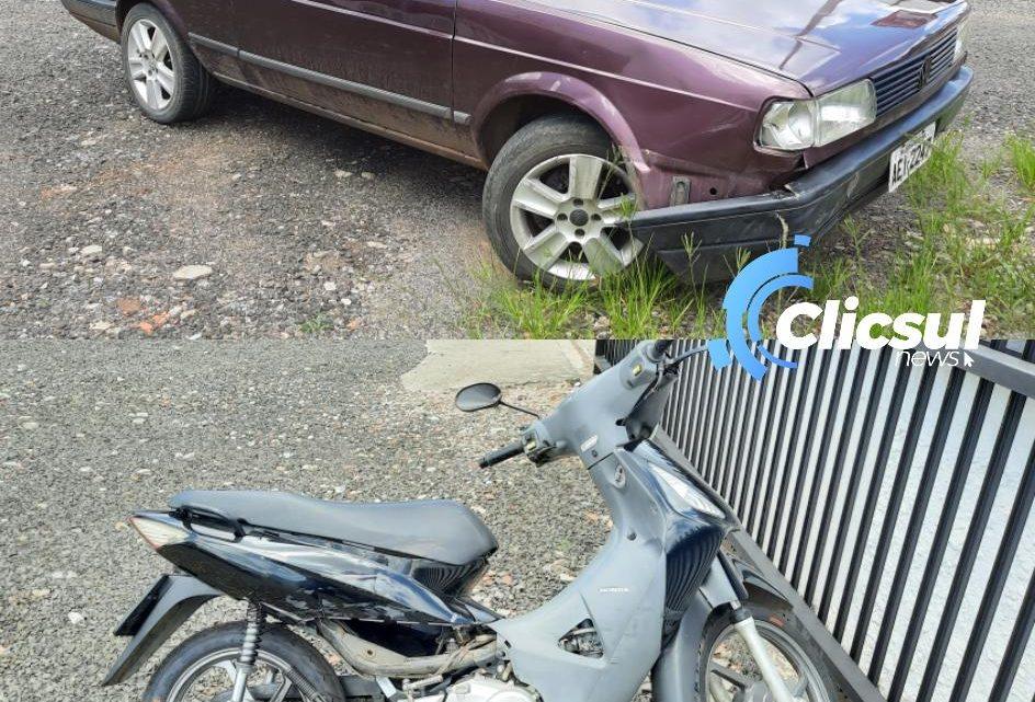 Bombeiros e PM atendem acidente envolvendo moto no centro de São Mateus do Sul