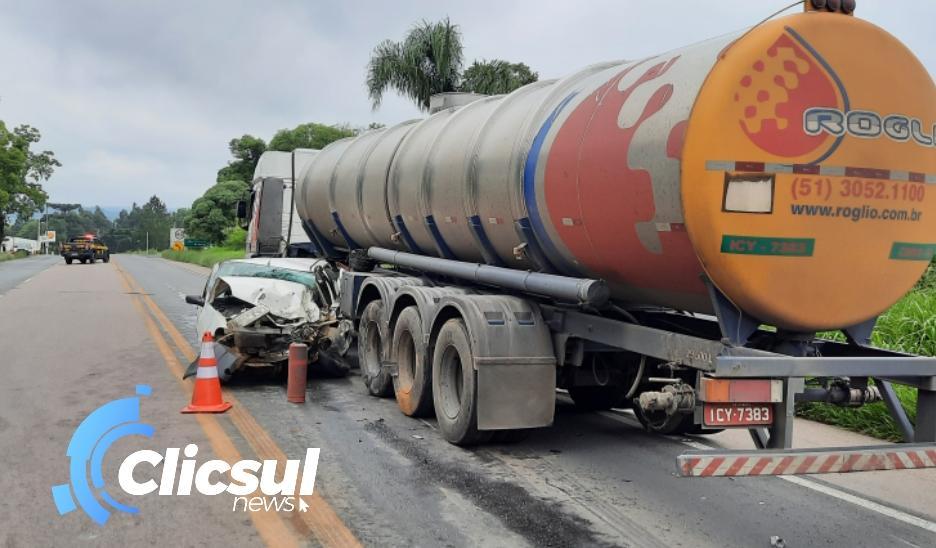 Motorista morre em grave acidente na BR 476 em Antônio Olinto