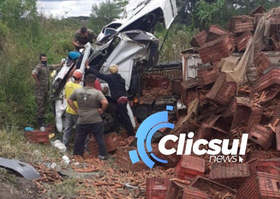 Aeronave é acionada para atender acidente na PR 427 na Lapa