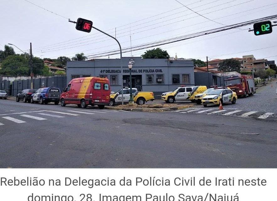Princípio de rebelião aciona forte esquema policial na delegacia de Irati