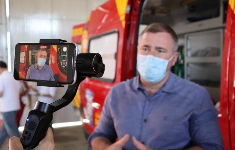 Corpo de Bombeiros de Irati tem nova ambulância destinada pelo deputado Bacil