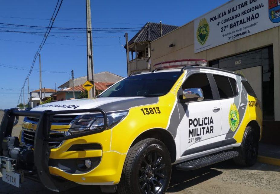 Homem é preso após ameaçar moradores, apedrejar residência e também tentar agredir Policial em São Mateus do Sul