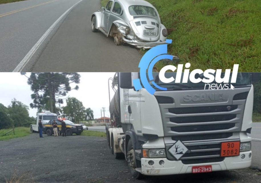 PRF atende acidente na BR 476