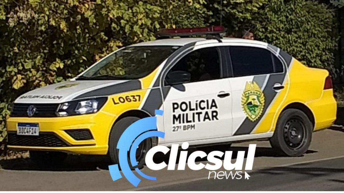 Polícia Militar prende rapaz com mandado de prisão em aberto no Centro de São Mateus do Sul