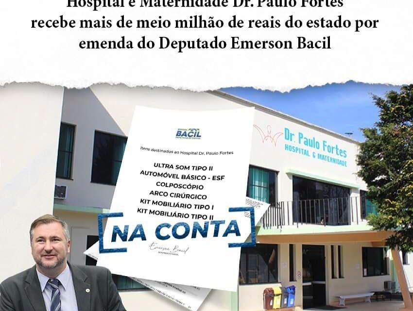 Recursos na conta do Hospital e Maternidade Doutor Paulo Fortes