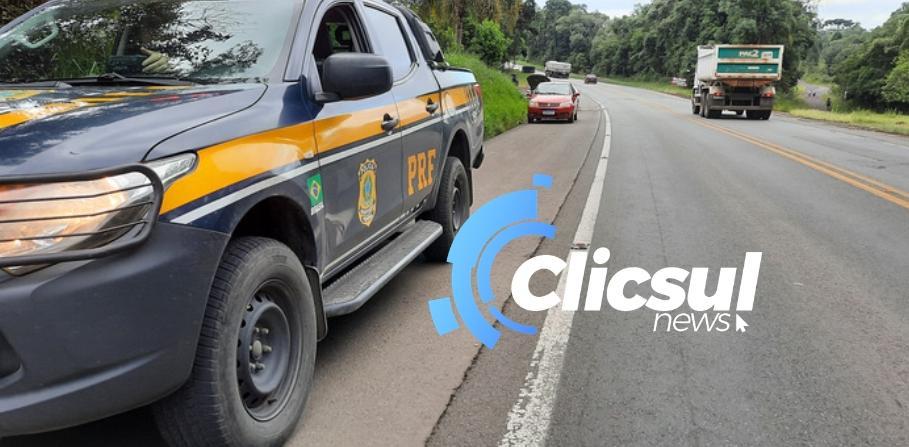 Bombeiros e PRF atendem acidente na Rodovia do Xisto br-476