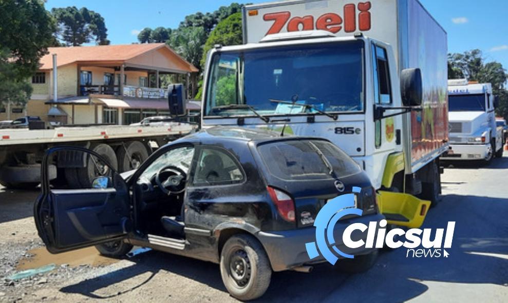 Bombeiros e PRF atendem acidente na BR 476 em São Mateus do Sul