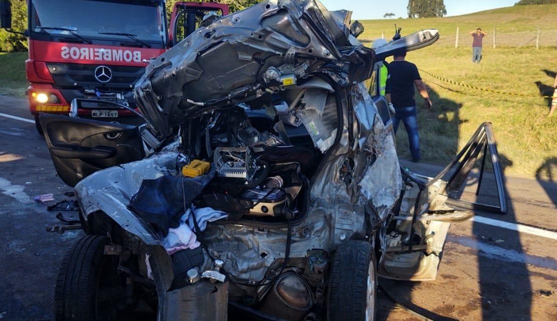 Acidente grave envolve quatro veículos na BR 116 em Papanduva