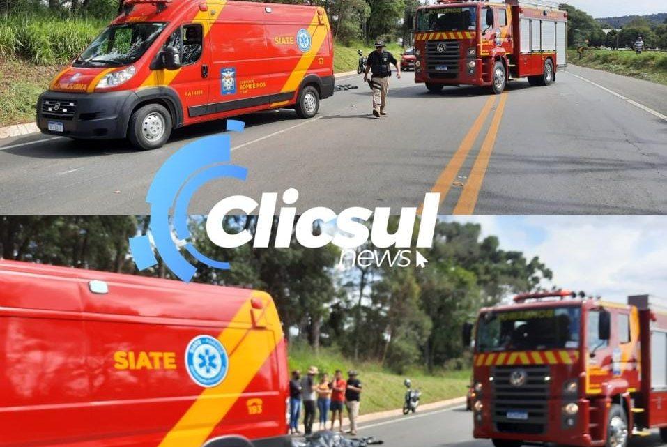 Jovem de 18 anos morre em acidente de moto na BR 476 em São Mateus do Sul