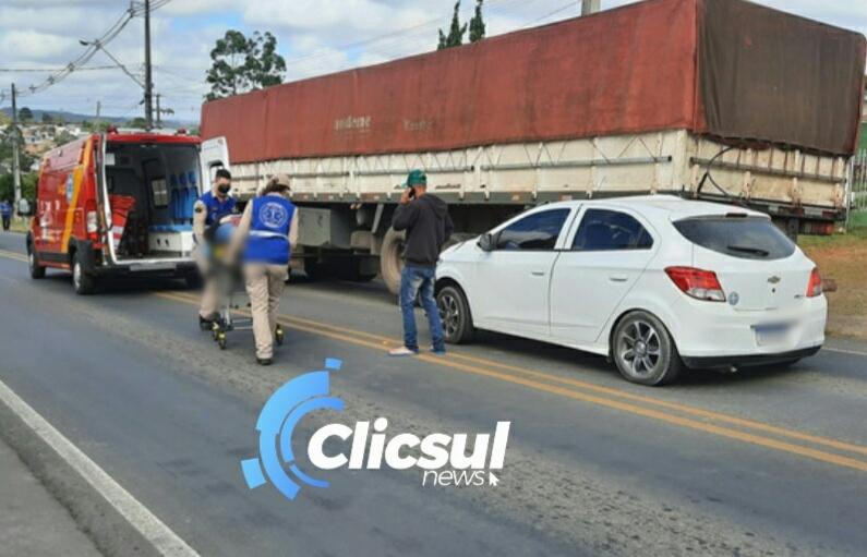 Bombeiros atendem acidente na PR 151 entrada de São Mateus do Sul