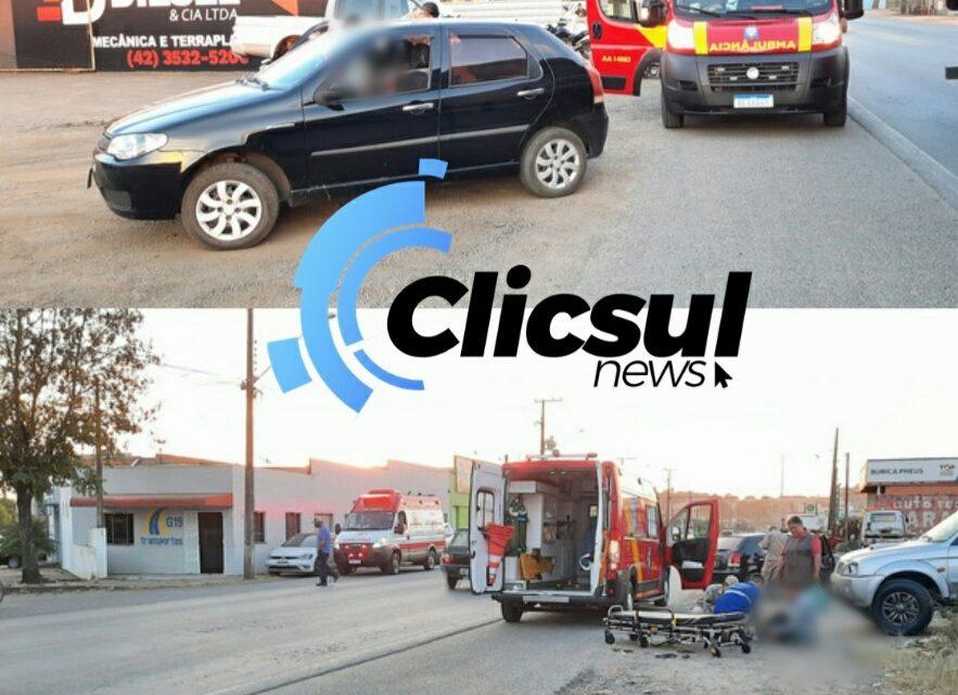 Bombeiros atendem colisão envolvendo Auto X bicicleta na Vila Amaral