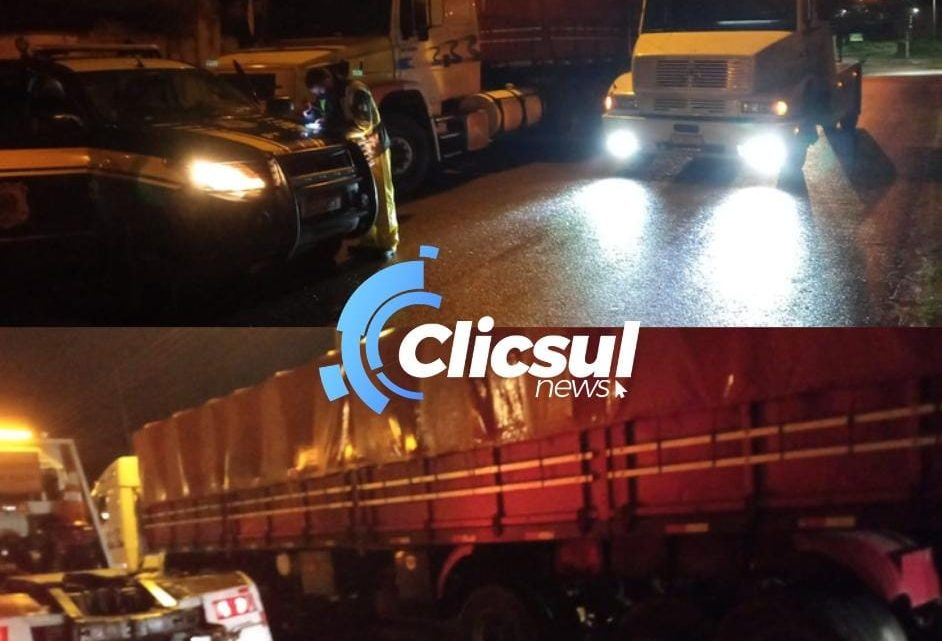 Caminhoneiro é preso após fugir de acidente onde motorista de carro morre na BR 476