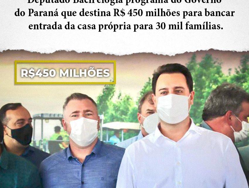 Deputado estadual Emerson Bacil elogia programa do Governo do Paraná que destina R$ 450 milhões para bancar entrada da casa própria para 30 mil famílias