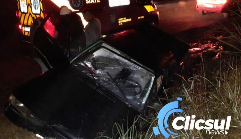 Bombeiros atendem  acidente na PR 364 em São Mateus do Sul